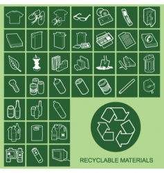 recyclable materials vector image