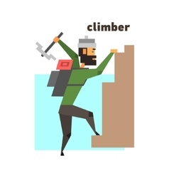 Rock Climber Abstract Figure vector image vector image