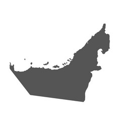 United arab emirates map black icon on white vector