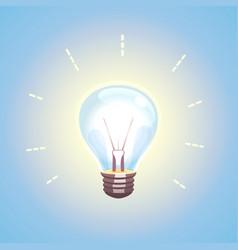 lightbulb idea design concept vector image