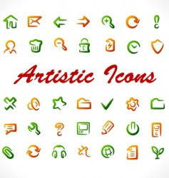 original icons vector image