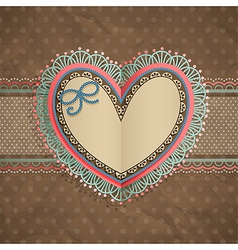 valentines day vintage lace card vector image