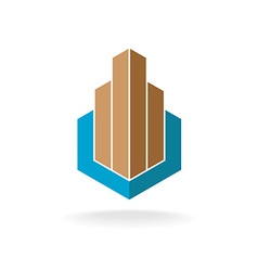 Building or real estate logo template Skyscrapers vector image vector image