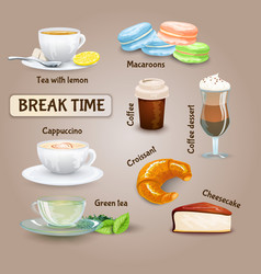 Coffee Break Set vector image