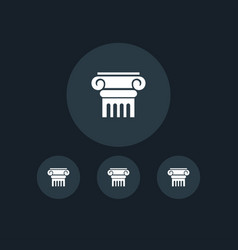 column icon simple vector image