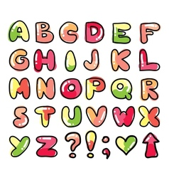 funny alphabet vector image vector image