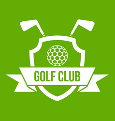 golf club emblem icon green vector image
