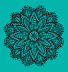 oriental mandala ornament template for vector image