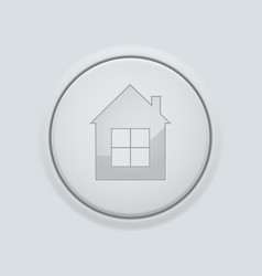 round home button on gray interface background vector image