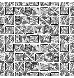 Seamless ethnic handmade ornament for your design vector image