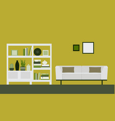 the interior of the room vector image