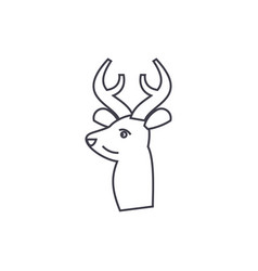 deer line icon sign vector image