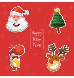 design elements Funny Santa Claus a symbol of the vector image
