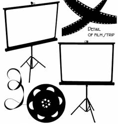 home movies vector image vector image
