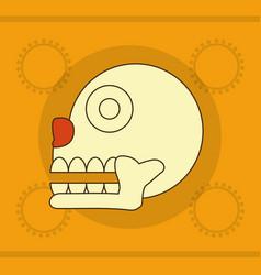 maya skull design vector image vector image