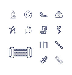 13 strength icons vector image