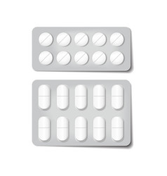 3d packaging for drugs painkillers antibiotics vector