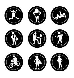 Activities icons vector