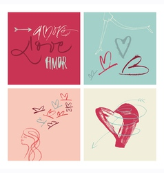 Amore vector image