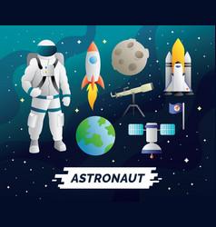 astronaut design element vector image