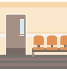 Background of hospital corridor vector