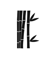 Bamboo stems icon simple style vector image