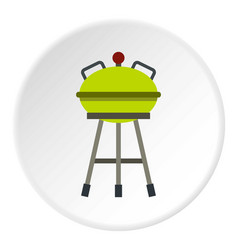 Barbecue grill icon circle vector