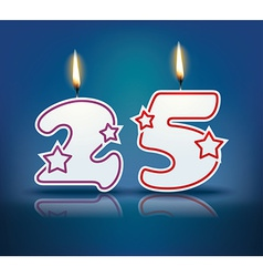 Birthday candle number 25 vector image