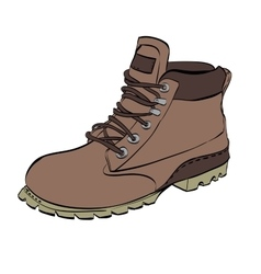 Boots for men Hiking on a white isolated vector
