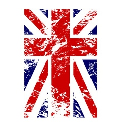 British flag vertical grunge design vector