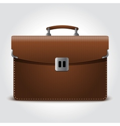 business brown briefcase on blue vector image