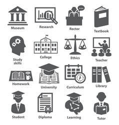 business management icons pack 39 vector image