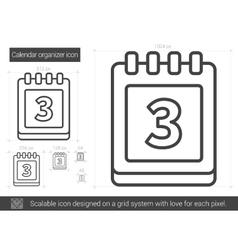 Calendar organizer line icon vector