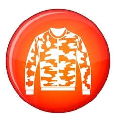 Camouflage jacket icon flat style vector