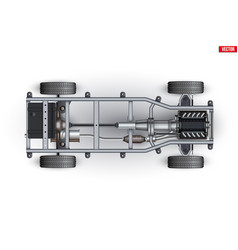Car frame rolling chassis vector