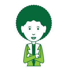 Cartoon businesswoman icon vector