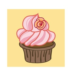 Cartoon Cupcake vector image