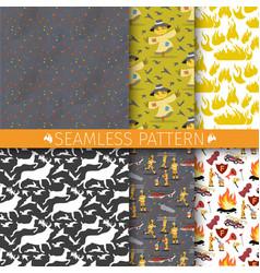 cartoon set seamless pattern vector image