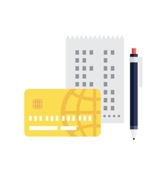 check pen and credit card vector image