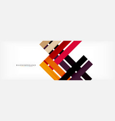Color stripes and lines geometric abstract vector