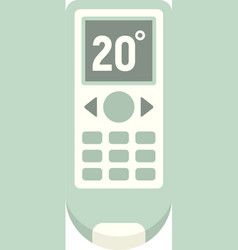 Conditioner remote control icon flat isolated vector