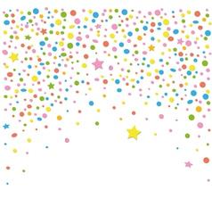 Confetti stars vector