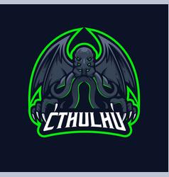 Cthulhu e-sport mascot logo design vector