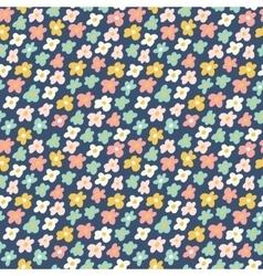Cute little flowers seamless pattern vector image