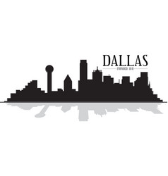 Dallas texas skyline silhouette vector