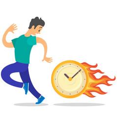 Deadline business concept time management fear vector