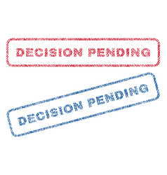 decision pending textile stamps vector image
