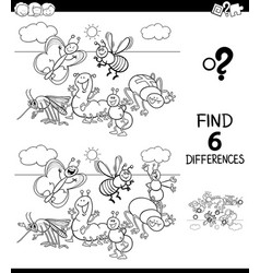 Differences color book with hens and roosters vector