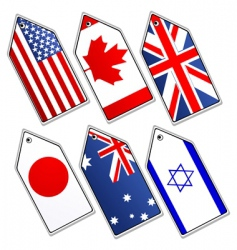 different flags vector image
