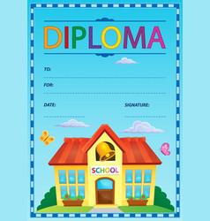 Diploma theme image 3 vector